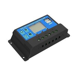 ソーラーチャージャー コントローラ 10A 12V/24V ソーラーパネル USB arusena39