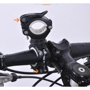 自転車ライトホルダー ブラケット (ホワイト)懐中電灯 空気入れ 固定 便利グッズ