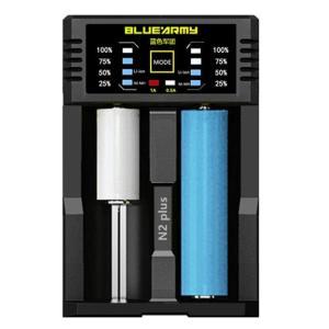 マルチUSB急速充電器 1Ax2スロット 18650 リチウムイオン電池 LEDレベル表示|arusena39