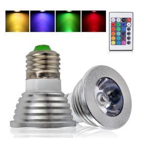E26 RGB 16色マルチカラー 3W LED電球 リモコン付き!|arusena39