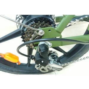 ★新商品★36V大容量リチウム電池搭載★折りたたみモペット電動自転車BONITA-20インチ★布カゴ付き|aruzan|04