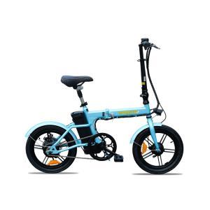 セール 発送電動自転車(モペット版)ペダル付「新フレックスFlex16」36Vリチウムイオン電池搭載 折りたたみ可能 後方ディスクブレーキ 16インチ