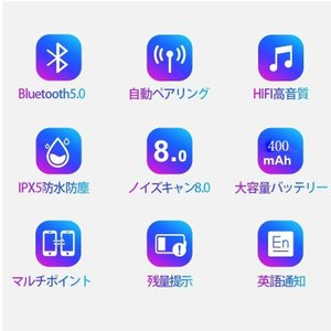 ワイヤレスイヤホン イヤホン ブルートゥース Bluetooth 5.0 iPhone 高音質 両耳 スポーツ ハンズフリー 防水|arvasshop|07