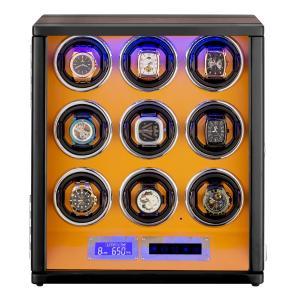 HOKUTO ワインディングマシーン 腕時計自動巻き器 ウォッチワインダー 9本巻き上げLEDライト...
