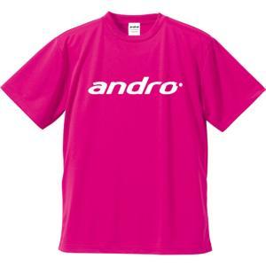 andro(アンドロ) 302082 卓球 Tシャツ WA−S NAPA T−SHIRTSIIIピンク×ホワイト 17SS|as-y