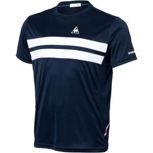 le coq sportif(ルコック) QTULJA31ZZ NVY テニス Tシャツ メンズ 半袖シャツ 18FW|as-y