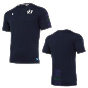 SALE マクロン(MACRON) 58017305 19-20年シーズン SRUスコットランドラグビー 6NT トラベルTシャツ 19FW