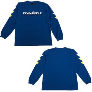 TRANSISTAR(トランジスタ) HB19TS01 BLU ハンドボール DRY 長袖Tシャツ GRADATION FLAG  BLU 19SS