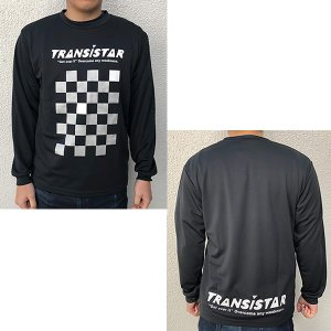TRANSISTAR(トランジスタ) HB19TS02 BG ハンドボール DRY 長袖Tシャツ CHECKER ブラックグレー 19SS