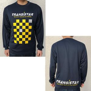 TRANSISTAR(トランジスタ) HB19TS02 NVY ハンドボール DRY 長袖Tシャツ CHECKER ネイビー 19SS