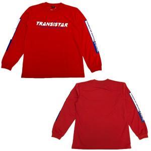TRANSISTAR(トランジスタ) HB19TS03 RED ハンドボール DRY 長袖Tシャツ SLEEVE LOGO RED 19SS