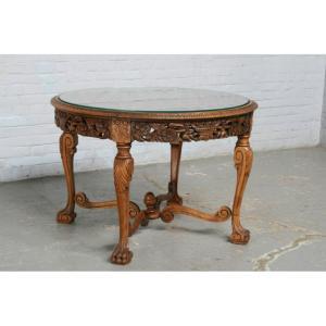 #1584 ヨーロッパ市場在庫品 アンティーク家具 コーヒーテーブル 1920年代 フランス原産 ウォールナット製|as296