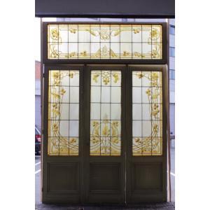 スタイル アールヌーヴォー 原産国 フランス 材質 グラス 年代 1890年代  サイズ  68cm...