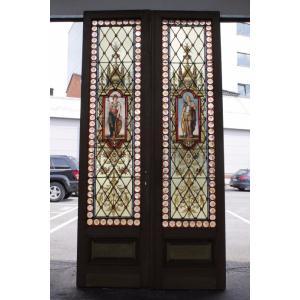 スタイル ルネッサンス 原産国 フランス 材質 グラス 年代 1890年代  サイズ:W80cm/H...