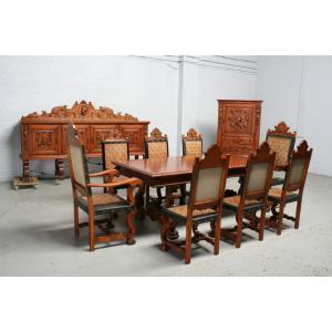 品番5169現地在庫販売フランス原産アンティーク家具マホガニー製ダイニングルーム11点セット1940年|as296