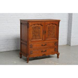 #6362 ヨーロッパ市場在庫品 アンティーク家具 キャビネット 1920年代 ベルギー原産 オーク製|as296