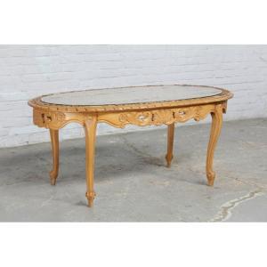 #8348 ヨーロッパ市場在庫品 アンティーク家具 コーヒーテーブル 1940年代 ベルギー原産 ウォールナット/天板ガラス製|as296