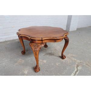 #8961 ヨーロッパ市場在庫品 アンティーク家具 コーヒーテーブル 1930年代 ベルギー原産 ウォールナットその他オーク製|as296