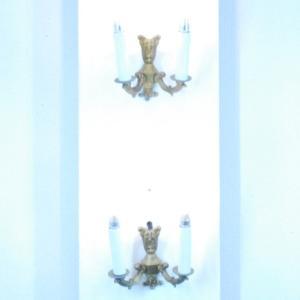 #wl0004壁掛ウォールランプ本物アンティーク照明1930年ベルギー原産本体真鍮製PSE表示品PL保険付 as296