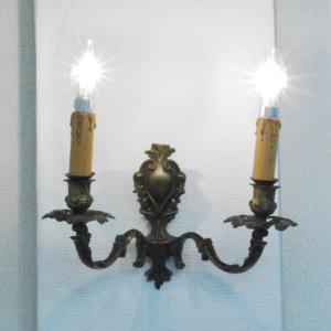 #wl0167壁掛ウォールランプ本物アンティーク照明1930年ベルギー原産本体材質真鍮製PSE表示品PL保険付 as296