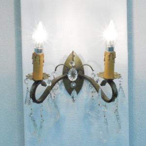 #wl0173壁掛ウォールランプ本物アンティーク照明1930年ベルギー原産本体材質シルバーブラス製PSE表示品PL保険付 as296