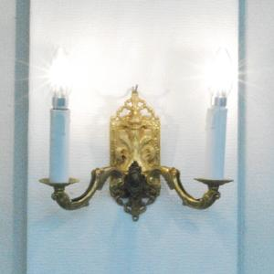 #wl1917壁掛ウォールランプ本物アンティーク照明1930年ベルギー原産本体材質真鍮製PSE表示品PL保険付 as296