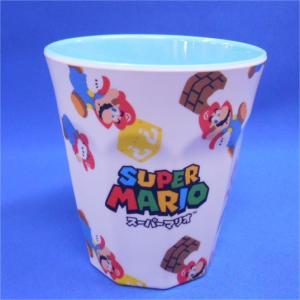 スーパーマリオ メラミンカップ スーパーマリオ20 マリオ総柄ホワイトML|asada