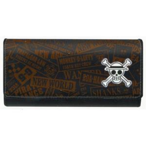 ワンピース フラップ型長財布 ブラック 15838|asada