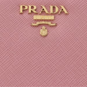 プラダ PRADA 2017年春夏新作 サフィアーノレザー 型押しカーフスキン 二つ折り財布 1ML225 QWA 442【お買得!】