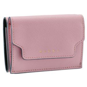 SALE マルニ MARNI 財布 三つ折り ミニ財布 サフィアーノレザー 三つ折り財布 PFMOW02U07 LV520 Z345G|asafezone