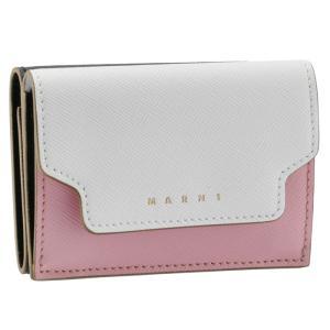 SALE マルニ MARNI 財布 三つ折り ミニ財布 サフィアーノレザー 三つ折り財布 PFMOW02U23 LV520 Z329I|asafezone