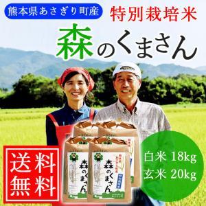【送料無料】令和2年産 特別栽培米 森のくまさん 白米18kg(玄米20kg) 熊本県産【農薬不使用】【化学肥料不使用】|asagiribussankan