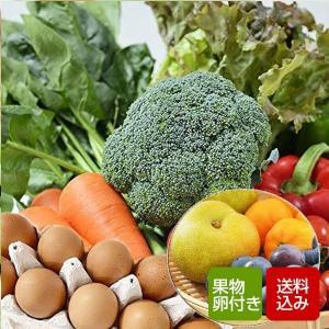 野菜、果物、卵がついたお得な野菜セットです。  九州野菜10〜12品と旬のくだものを1〜2品をつめ合...