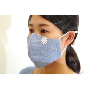 オーガニックコットン夏マスク&マスクケース〈スマートレターでお届け〉マスク(ブルー)1個、マスク(オフホワイト)1個、抗菌素材 マスクケース1個|asahiimc|02