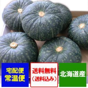 野菜 かぼちゃ 送料無料 北海道産 カボチャ 10kg(5玉から7玉入り) 価格 3990円 北海道で南瓜の収穫時期によって、品種が変わります asahikawajyogai