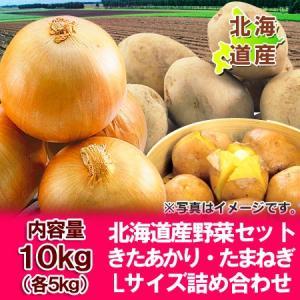 「北海道 じゃがいも 送料無料 きたあかり」北海道産 野菜 北海道産の北あかりとたまねぎ 野菜セット 野菜詰合せ Lサイズ 10kg(各5kg)価格 3240円|asahikawajyogai