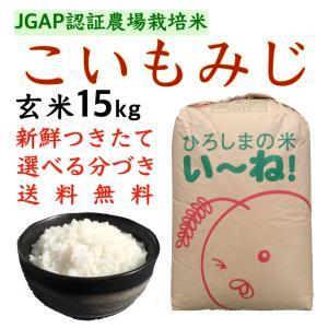 こいもみじ玄米15kg令和2年産 白米 分づき 安い 送料無料 つきたて JGAPひろしまのお米 asahinaya-shop