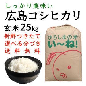 コシヒカリ玄米25kg令和2年産 選べる分づき 白米・ 7・5・3・1分づき 送料無料 ひろしまのお米|asahinaya-shop
