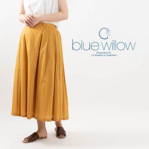 blue willow [ブルーウィロー]ラップフレアスカート 019FP13306 ナチュラルファッション ナチュラル服 40代 50代 カジュアル シンプル ベーシック|asahiya-group-first