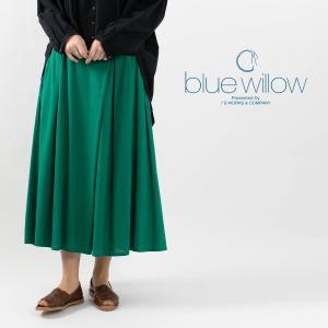 blue willow [ブルーウィロー]ラップフレアスカート 019SP13049 ナチュラルファッション ナチュラル服 40代 50代 カジュアル シンプル|asahiya-group-first