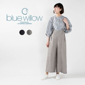 blue willow リネンヘリンボンサロペット 021UP14219 ナチュラルファッション ナチュラル服 大人コーデ 大人かわいい カジュアル シンプル ベーシック|asahiya-group-first