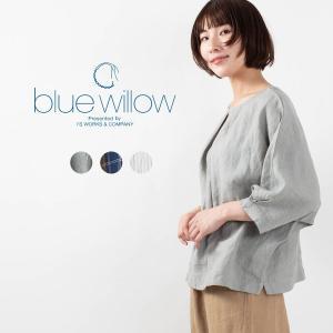 blue willow [ブルーウィロー]リネンドルマンブラウス 021US11363ナチュラルファッション ナチュラル服 40代 50代 大人コーデ 大人かわいい カジュアル|asahiya-group-first