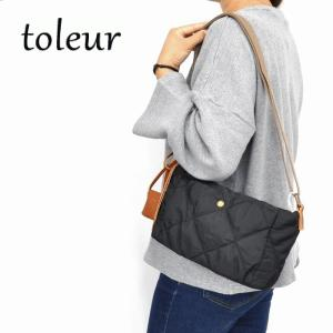 toleur ト−ラ ポリキルティングミニショルダーバッグ 11623 ナチュラル服 40代 50代 ベーシック カジュアル ショルダーバッグ レザー|asahiya-group-first