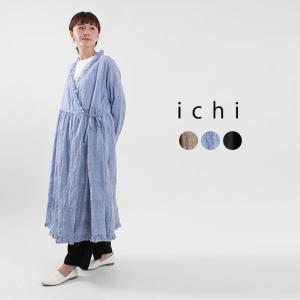ichi シャーリングカシュクールワンピース 201136 ナチュラルファッション ナチュラル服 40代 50代 大人コーデ 大人かわいい カジュアル シンプル|asahiya-group-first