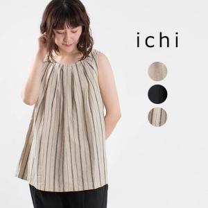 ichi [イチ]タックノースリーブプルオーバー 210120 ナチュラルファッション ナチュラル服 40代 50代 大人コーデ 大人かわいい カジュアル シンプル|asahiya-group-first