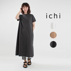 ichi [イチ]ポケット付きワンピース 210144ナチュラルファッション ナチュラル服 40代 50代 大人コーデ 大人かわいい カジュアル シンプル ベーシック|asahiya-group-first
