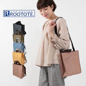 ROOTOTE ルートートSN.スクエア2WAYリペレントキャンバス D2681 トートバッグ デイリー 軽量 ナチュラルファッション 40代 50代 カジュアル ベーシック|asahiya-group-first