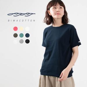BIWACOTTON biwacotton ビワコットンクルーネックTシャツ3420741ナチュラルファッション ナチュラル服 高島ちぢみ レディース 涼しいTシャツ シンプル asahiya-group-first