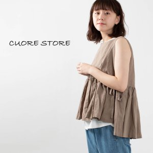 CUORE STORE [クオーレストア]サイドリボンブラウス 9404806 ナチュラルファッション ナチュラル服 40代 50代 大人コーデ 大人かわいい カジュアル|asahiya-group-first