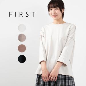 FIRST ポケットワイドTシャツ CA-3209 ナチュラル服 40代 50代 大人コーデ 大人かわいい カジュアル シンプル ベーシック|asahiya-group-first